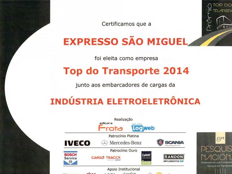 TOP TRANSPORTE 2014 - INDUSTRIA ELETROELETRONICA